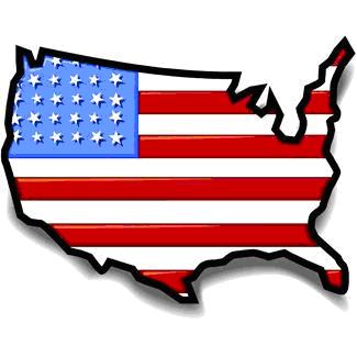 USA Flagge Land